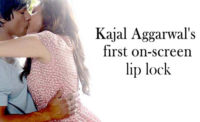 Kajal Aggarwal first on screen lip lock