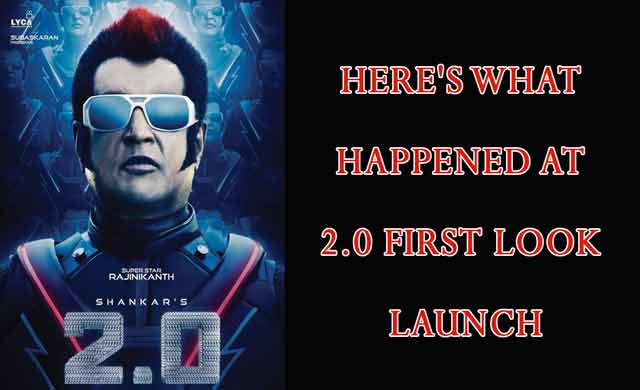 Enthiran 2 Movie First Look Launch