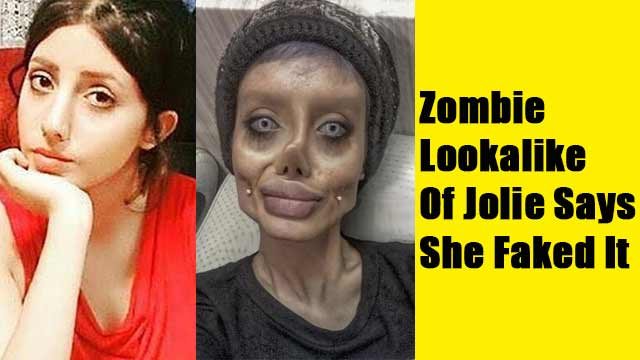 Zombie Lookalike Of Jolie Says She Faked ItZombie Lookalike Of Jolie Says She Faked It