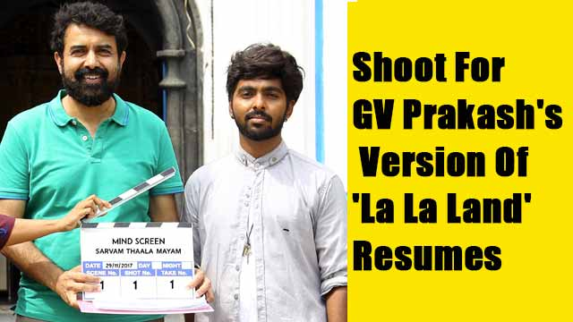 Shoot For GV Prakash's Version Of 'La La Land' Resumes