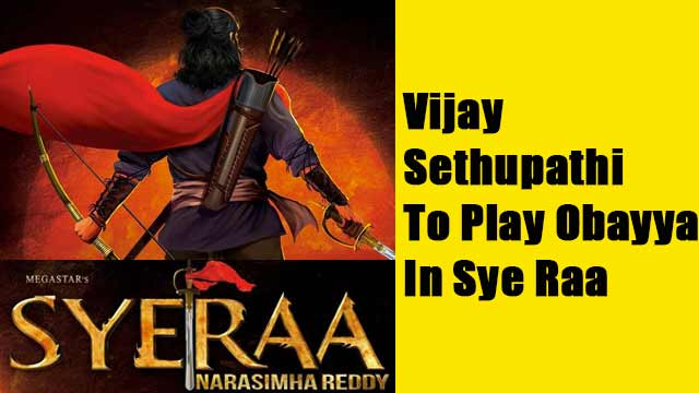 Vijay Sethupathi To Play A Crucial Character In 'Sye Raa'