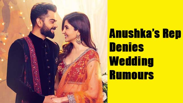 Anushka rep denies wedding rumours