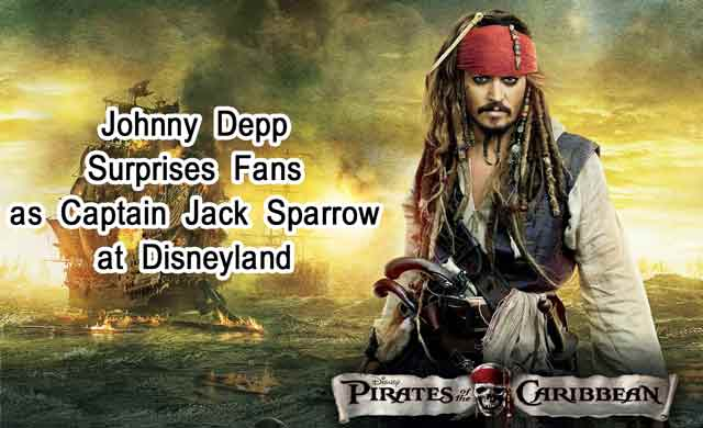 Johnny Depp Surprises Fans as Captain Jack Sparrow at Disneyland