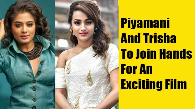Piyamani And Trisha To Join Hands For An Exciting Film