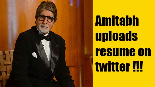 Amitabh uploads resume on twitter !!!