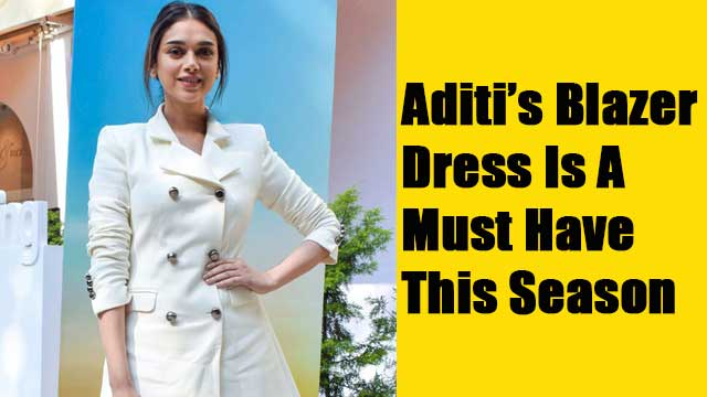 Aditi's Blazer Dress Is A Must Have This Season