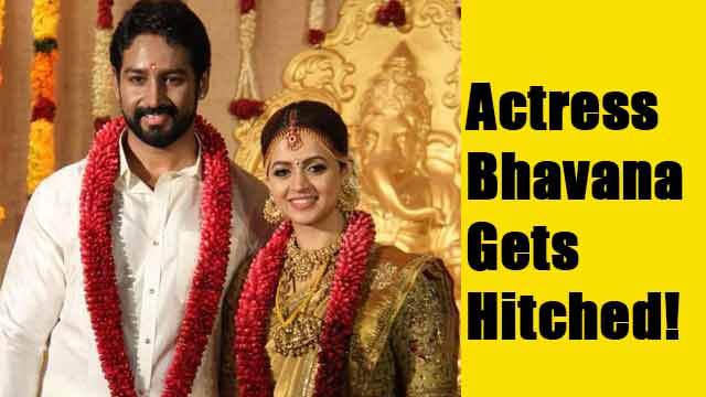Actress Bhavana Gets Hitched!