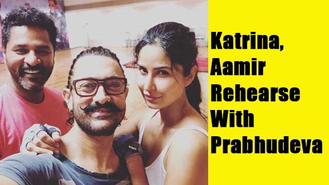 Katrina, Aamir Rehearse With Prabhudeva