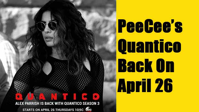 PeeCee's Quantico Back On April 26